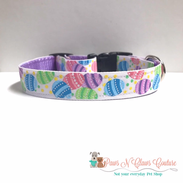 "5/8"" Glitter eggs Dog Collar - Paws N Claws Couture"