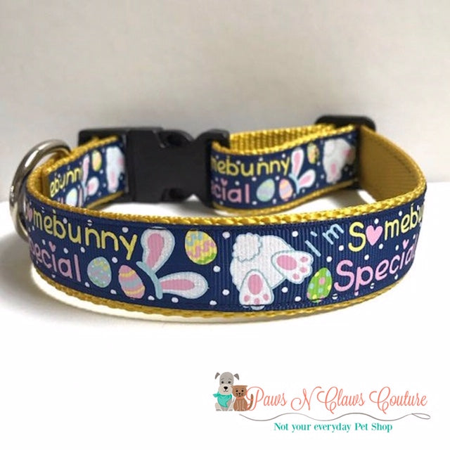 "1"" I'm Sombunny Special Dog Collar - Paws N Claws Couture"