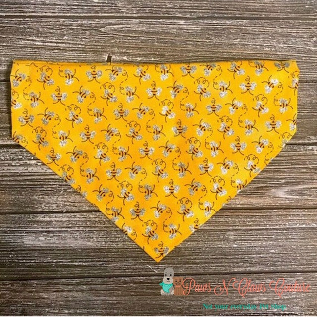 Glitter Wing Bees Bandana - Paws N Claws Couture