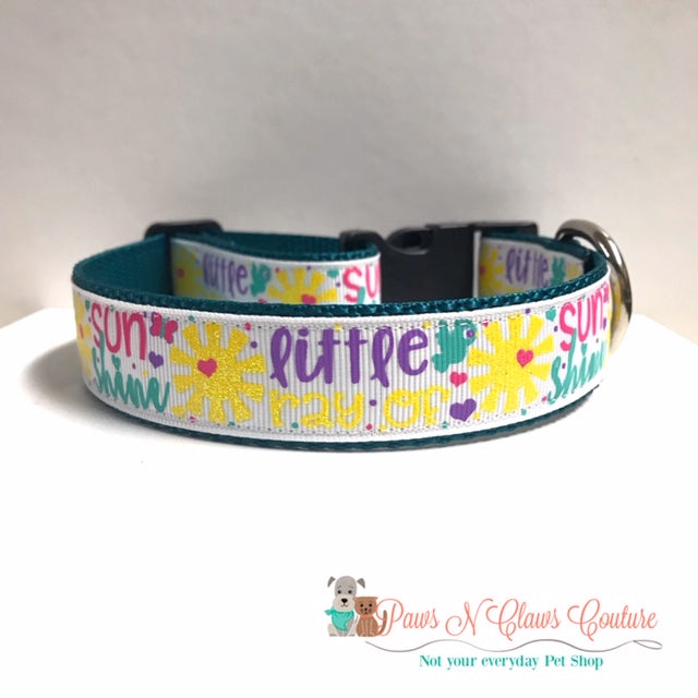 "1"" Little Ray of Sunshine Dog Collar - Paws N Claws Couture"