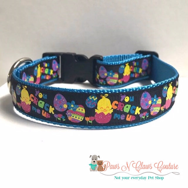 "1"" You Crack me up Dog Collar - Paws N Claws Couture"