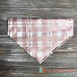 Metallic Rose Gold Plaid on Creme Bandana