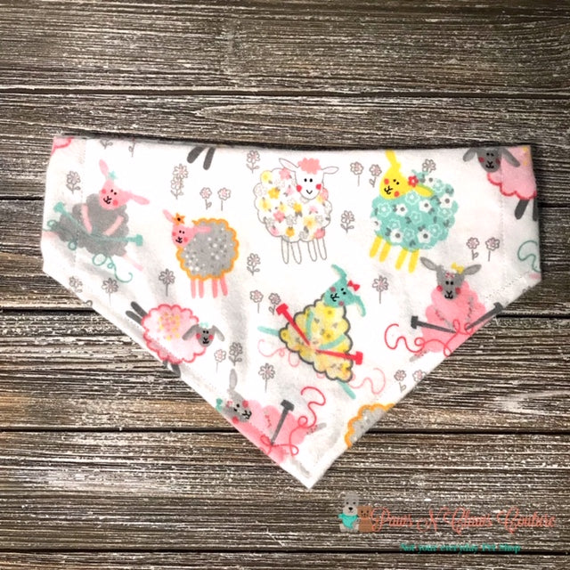 Spring Sewing Sheep Bandana