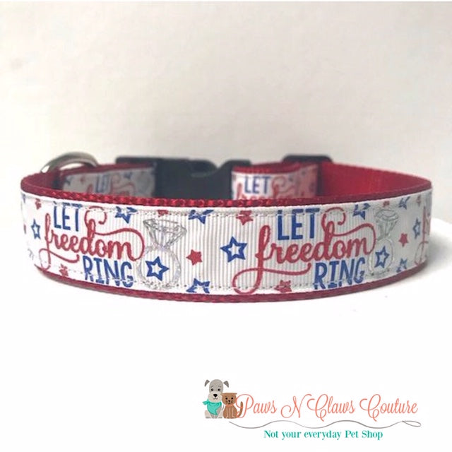 "1"" Let Freedom Ring Dog Collar"