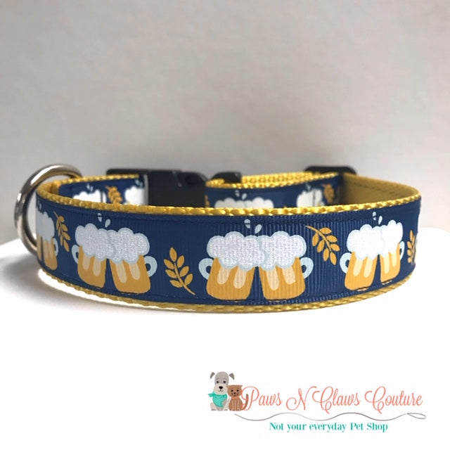 "1"" Frosty Mugs Dog Collar"