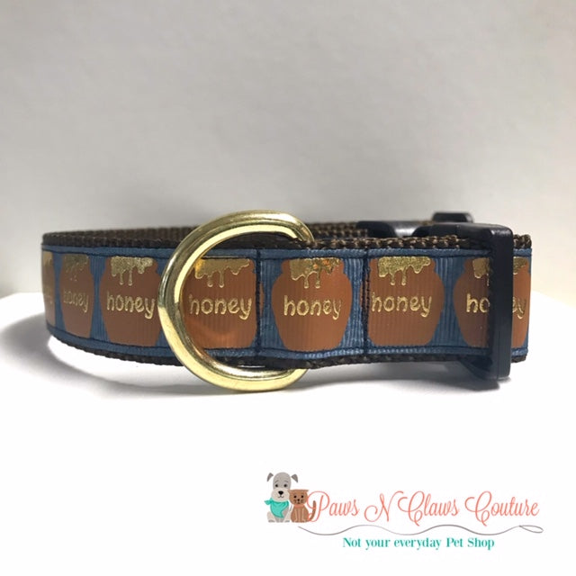 "1"" Honey Dog Collar"