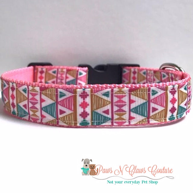 "1"" Aztec Dog Collar, Leash Available"