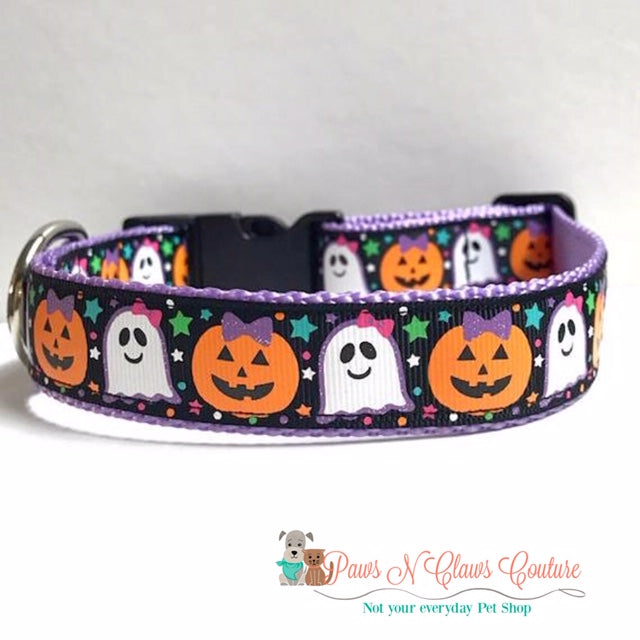 "1"" Halloween Friends Dog Collar"