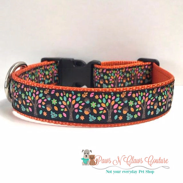 "1"" Perfect Autumn Day Dog Collar - Paws N Claws Couture"