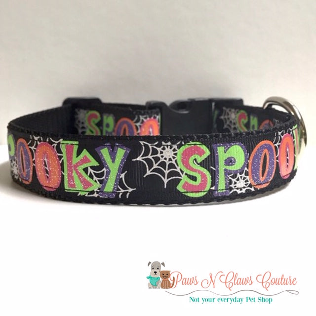 "1"" Spooky Words Dog Collar"