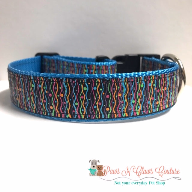 "1"" Streamers Dog Collar"