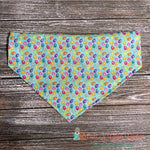 Glitter Mini Eggs on light blue Bandana