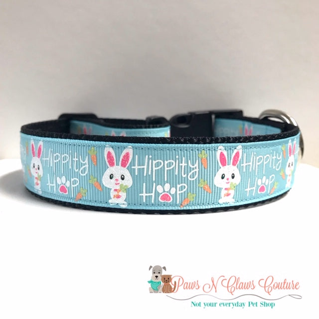 "1"" Hippity Hop Dog Collar - Paws N Claws Couture"