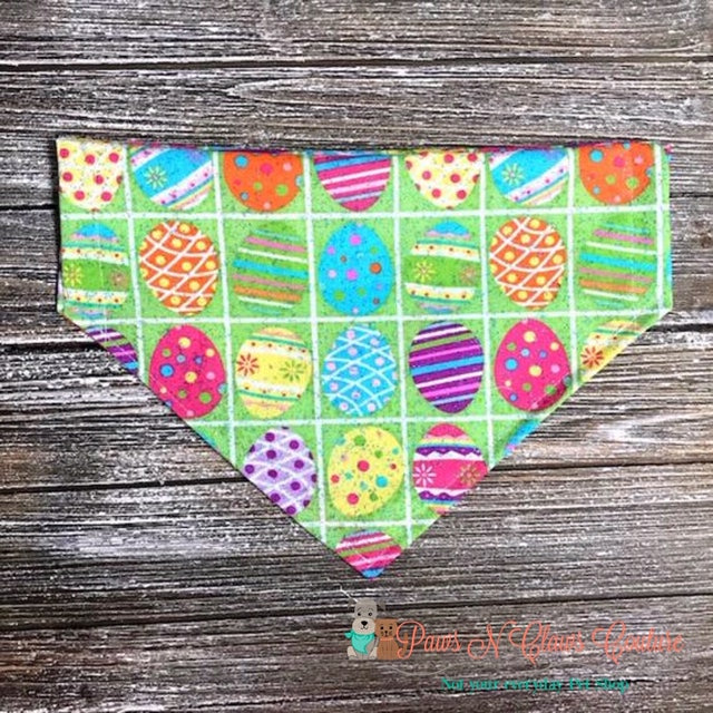 Plaid Easter eggs Bandana - Paws N Claws Couture