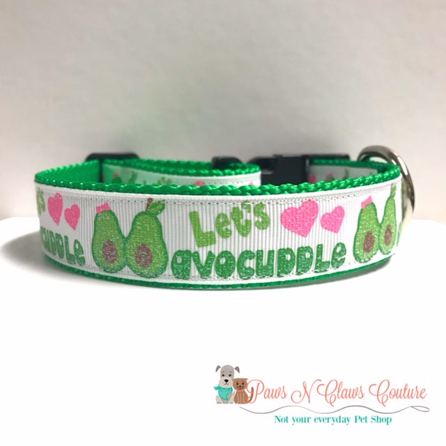 "1"" Let's Avocuddle Dog Collar - Paws N Claws Couture"
