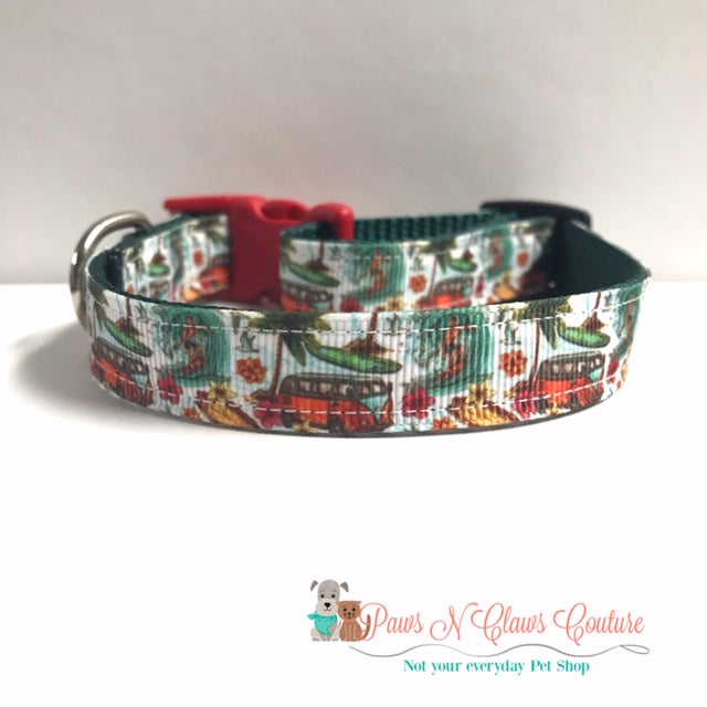 "5/8"" Summer Beach Days Dog Collar - Paws N Claws Couture"