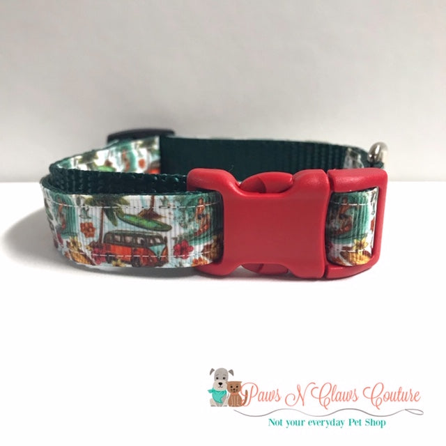 "5/8"" Summer Beach Days Dog Collar"