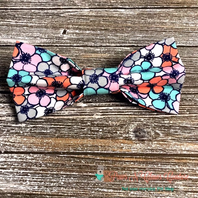 Spring Flowers Bow Tie - Paws N Claws Couture