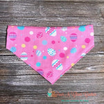 Easter eggs & Dots on Pink Bandana