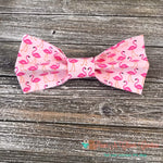 Flamingos on Pink Bow Tie