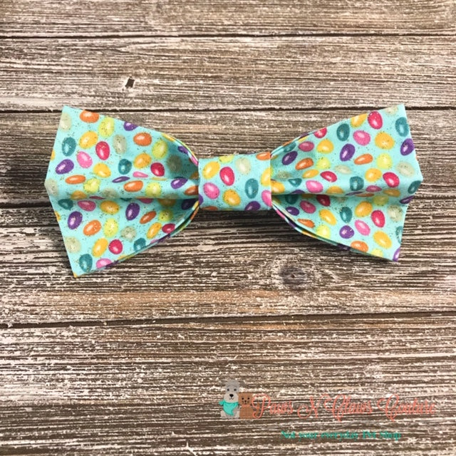 Glitter Mini Eggs on Light Blue Bow Tie