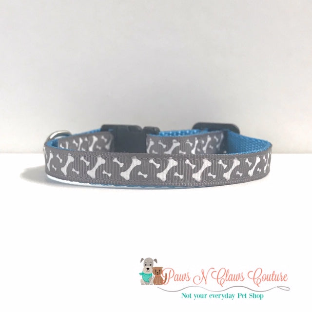 "3/8"" Mini Bones Cat or Small Dog Collar"