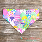 Glitter Easter Bunny & Eggs Bandana - Paws N Claws Couture