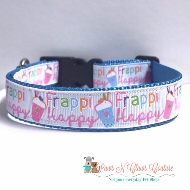 "1"" Frappi Happy Dog Collar - Paws N Claws Couture"