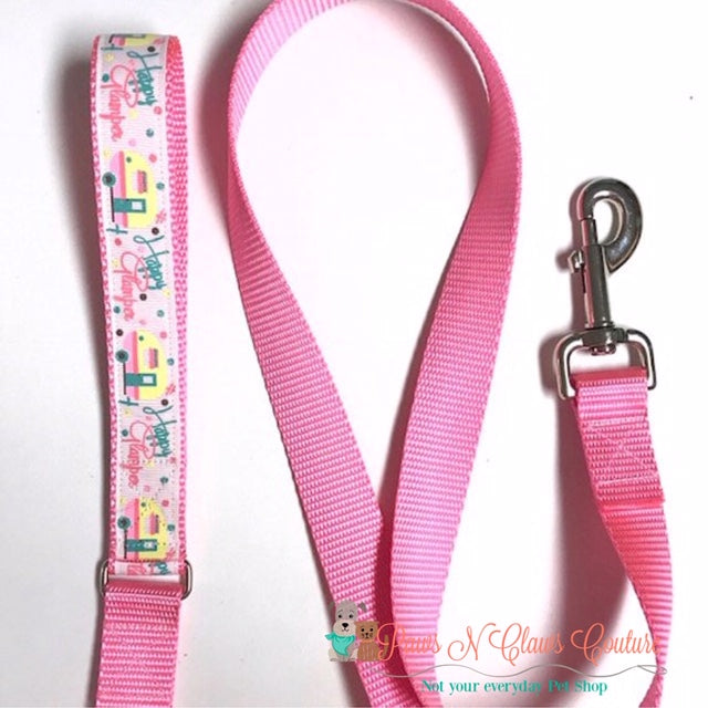 Happy Glamper Dog Collar, Leash Available