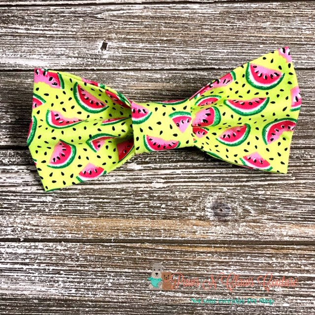 Mini Watermelons Bow Tie - Paws N Claws Couture