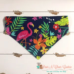 Tropical Flamingo and Pineapples Bandana
