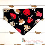 Reversible Coffee Bandana - Paws N Claws Couture
