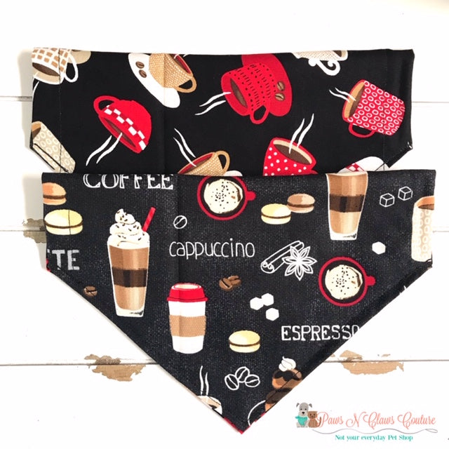 Reversible Coffee Bandana