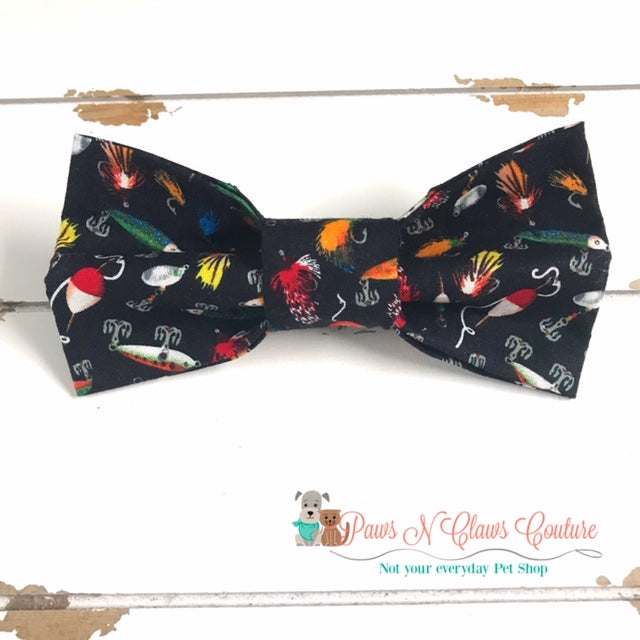 Fishing Lure Bow Tie - Paws N Claws Couture