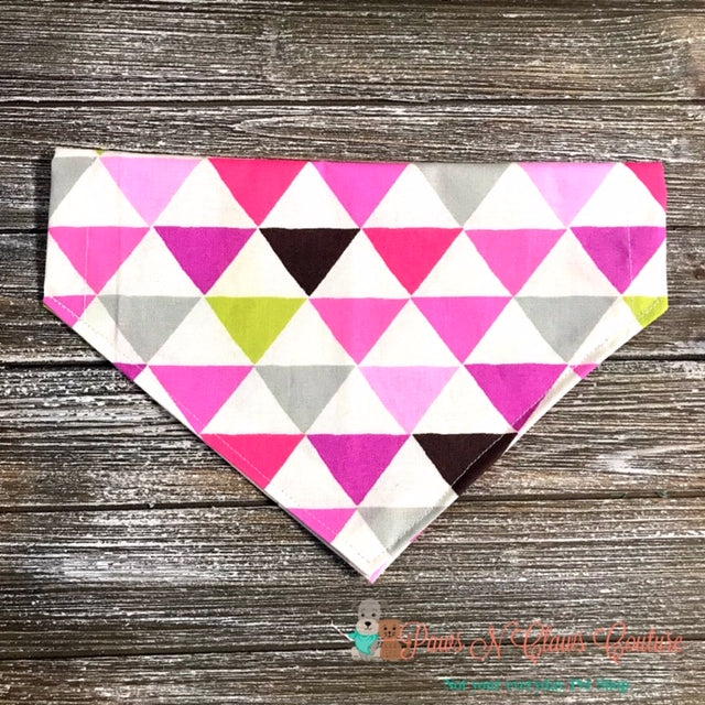 Pink Triangles Bandana - Paws N Claws Couture