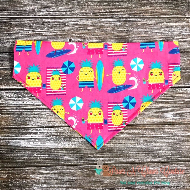 Pineapple Pool Party Bandana - Paws N Claws Couture