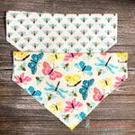 Reversible Pastel Butterflies, Bees and Dragonflies Bandana
