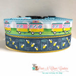 "1"" Campout or Lightning Bugs Dog Collar - Paws N Claws Couture"