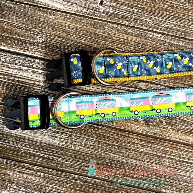 "1"" Campout or Lightning Bugs Dog Collar"