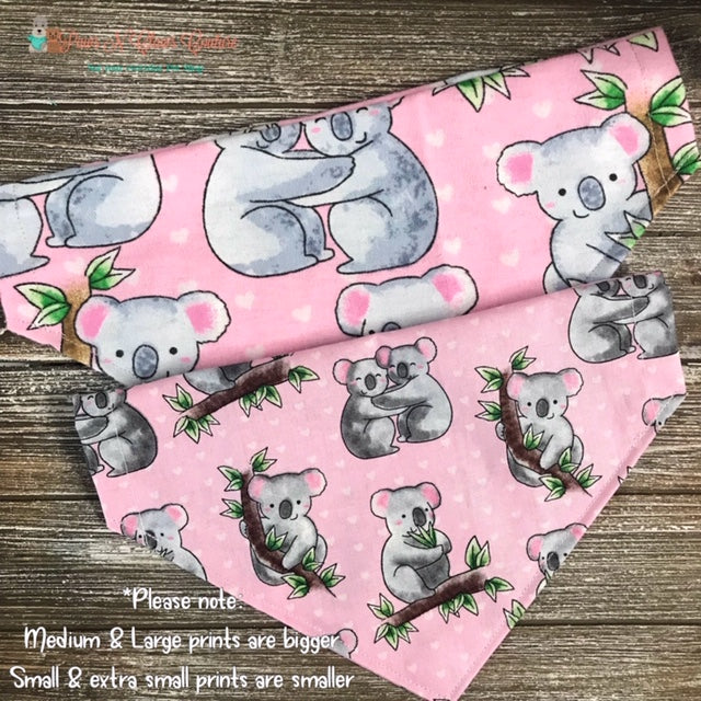 Koala Bears on Pink Bandana - Paws N Claws Couture