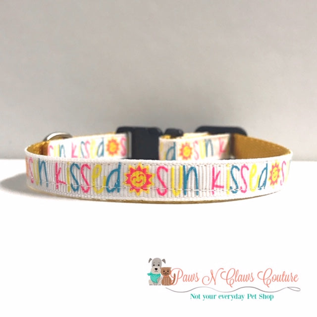 "3/8"" Sunkissed Cat or Small Dog Collar - Paws N Claws Couture"