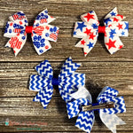 Patriotic Paws, Stars or Chevron Hair Clip - Paws N Claws Couture