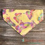 Butterflies on Yellow Bandana - Paws N Claws Couture