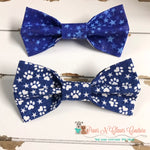 Blue Patriotic Bow Ties - Paws N Claws Couture