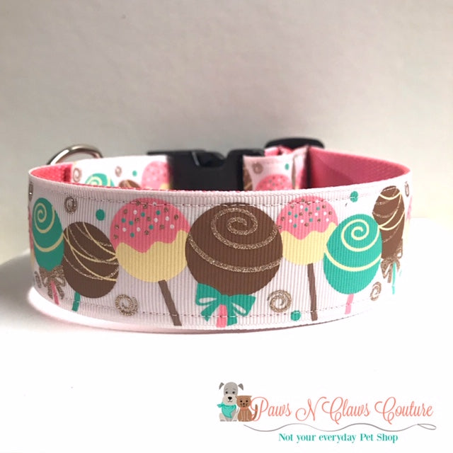 "1.5"" Cake Pops Dog Collar"