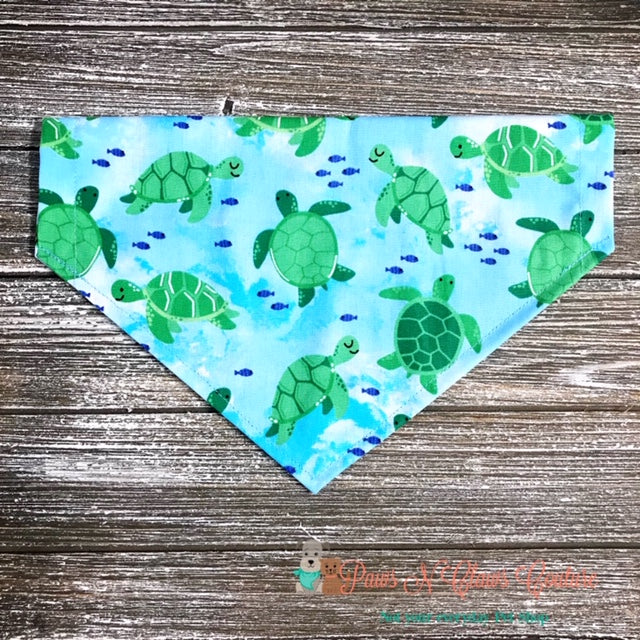 Sea Turtles on Blue Bandana