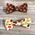 Mini Pumpkins or Fall Leaves Bow Ties - Paws N Claws Couture