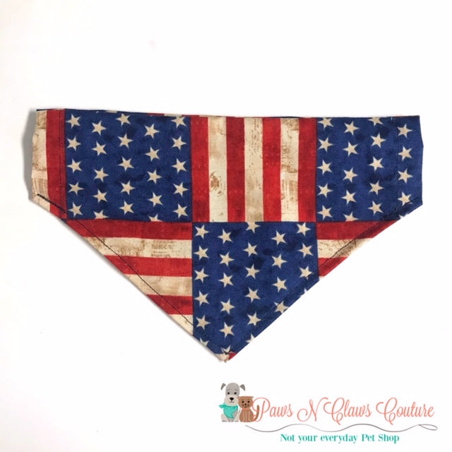 Flag Squares Bandana - Paws N Claws Couture
