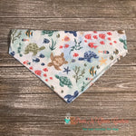 Reversible Sailboats & Oceanlife Bandana - Paws N Claws Couture