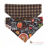 Reversible Plaid and Pumpkin Spice Bandana